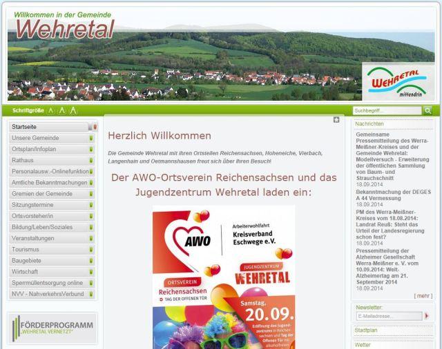 AWO auf wehretal.de