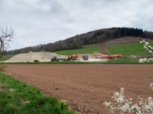 Erstes Foto des A 44-Verlaufs zwischen Reichensachsen und Waldkappel. Zum Vergrößern auf das Bild klicken.