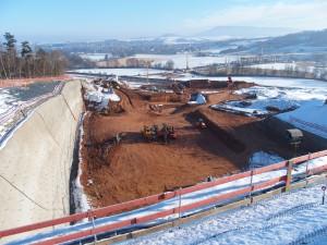 An der Baustelle Trimbergtunnel