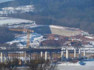 Baustelle A 44-Wehretalbrücke und Trimbergtunnel